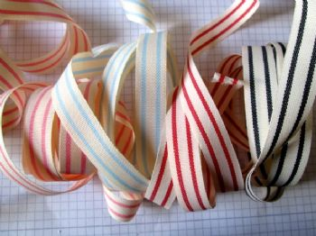 15mm Tea Towel  Vintage Design Ribbon Choice of Colour